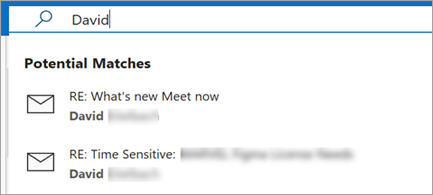 E-posta önerilerini gösterir