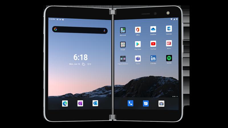 Surface Duo cihaz görüntüsü