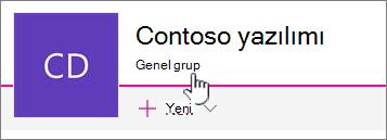 Soldan sağa düğme grubu bağlı sitelerde Grup gösterilir