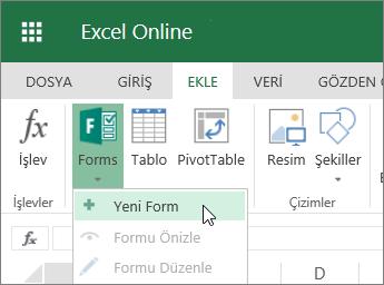 Formlar > Yeni Form