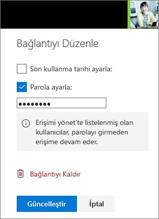 Bağlantı ayarlarını Düzenle 'nin ekran görüntüsü