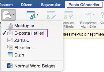 e-posta birleştirme