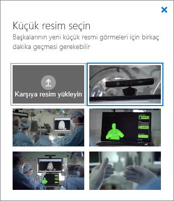 Küçük Resim Seçin bölmesinin ekran görüntüsü.