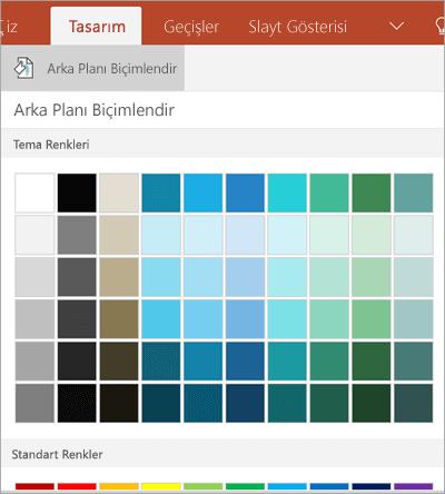 Arka plan renkleri