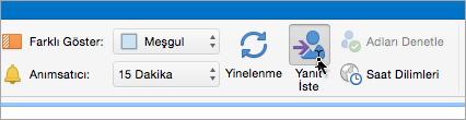 Mac için Outlook 2016'da Yanıt İste düğmesini ekran görüntüsü