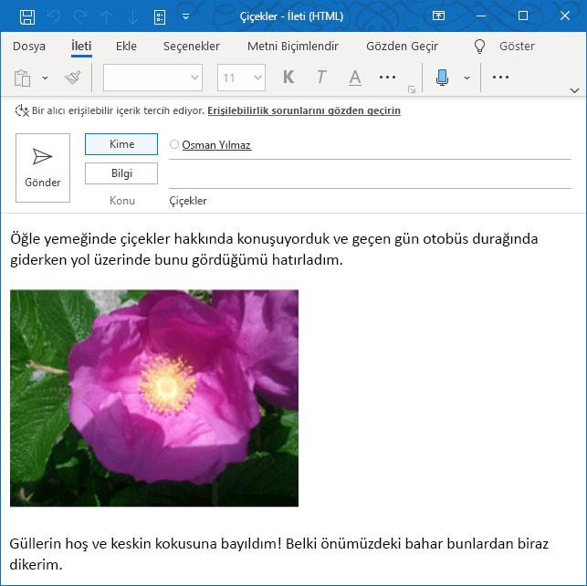 Outlook Erişilebilirlik Posta İpucu