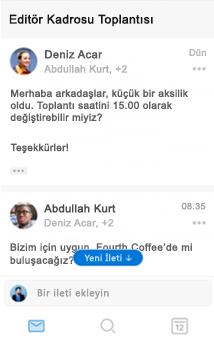 iOS için Outlook'ta yeni konuşma deneyimi