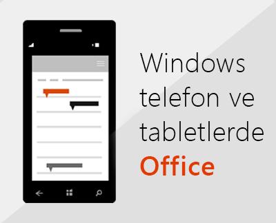 Windows 10 cihazınıza Office mobil uygulamalarını kurmak için tıklayın
