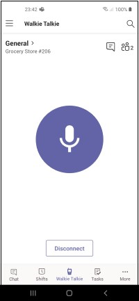 Ana Walkie Talkie ekranı Android