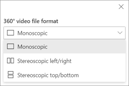 video seçenekleri