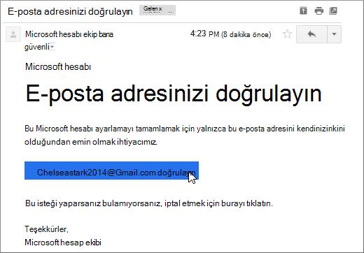 E-posta adresinizi doğrulayın