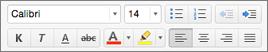 Mac için Outlook'ta biçimlendirme düğmeleri