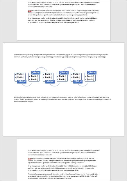 Tablolar ve sayfaya diyagramları gibi Sığdır geniş öğeleri aksi dikey bir belgede yatay sayfa olanak tanır
