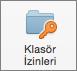 Mac için Outlook 2016 Klasör İzinleri Düğmesi