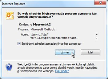 Bir Web sitesinin program açmasına izin verilmesiyle ilgili iletişim kutusu