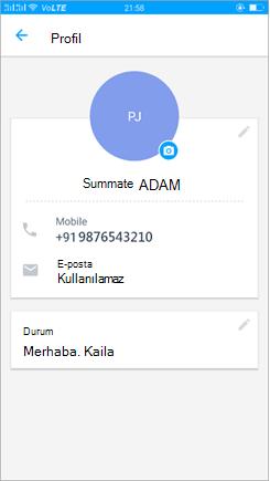 Güncelleştirme durumu ayarı profilinin ekran görüntüsü