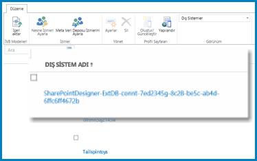 SPO'nun İBH'si için Dış Görünüm'deyken şeridin AQ ekran görüntüsü.