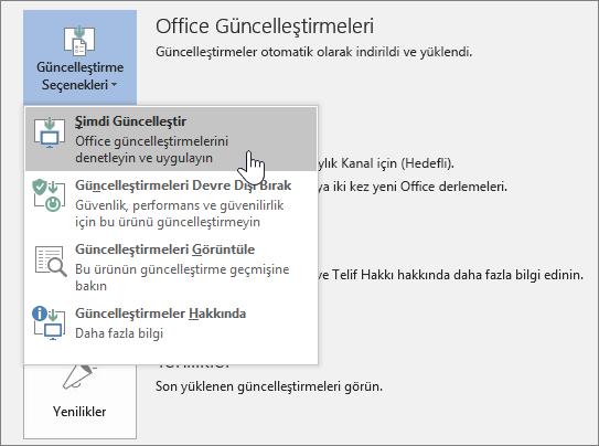 Office Insider güncelleştirmelerini şimdi edinin düğmesi