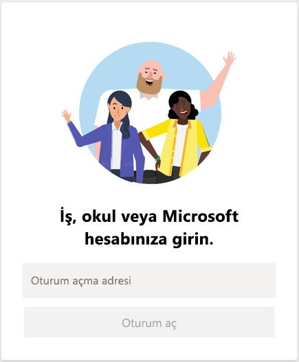 Microsoft Teams'de oturum açın
