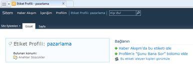Etiket Profili