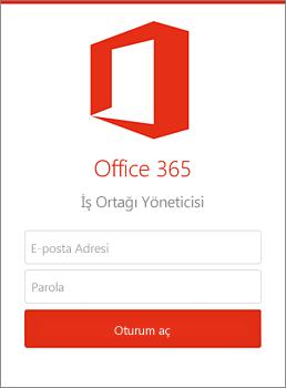 İş Ortağı Yönetim Merkezi mobil uygulaması
