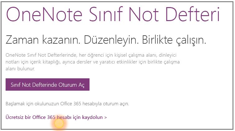Ücretsiz bir Office 365 hesabının nasıl edinileceğini gösteren ekran görüntüsü.