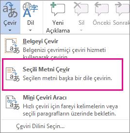 Seçili Metni Çevir