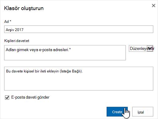 SharePoint Online'da Klasik mod Paylaş iletişim kutusu