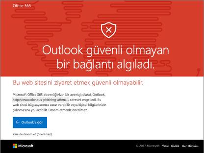 Outlook usafe bağlantı belirledi.