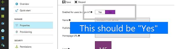 Kullanıcıların oturum açması için Etkinleştirilmiş alanı Evet'i gösteriyor