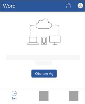 Microsoft hesabınızla ya da Office 365 iş veya okul hesabınız ile giriş yapınız.