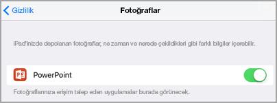 Fotoğraf erişim