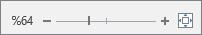 Metni büyütmek veya küçültmek için kullanılan yakınlaştırma kaydırıcısı gösterilir.