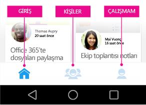 Android için Delve ana menüsü