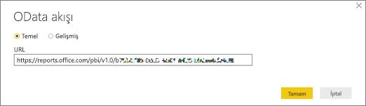 Power BI masaüstü için OData akış URL'si