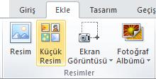 Office 2010 ve 2007 uygulamalarında küçük resim ekleme