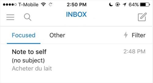 iOS'ta Kendiniz için Not