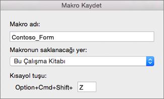 Mac için Excel Makroları Kaydet Biçimi