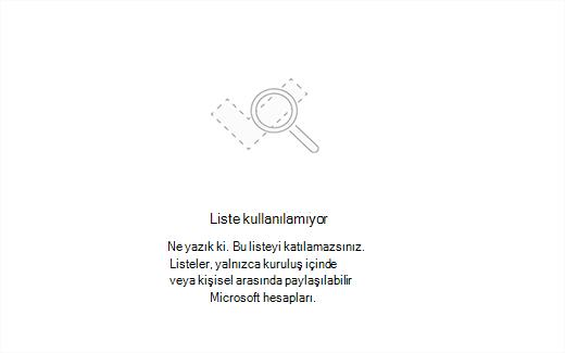 Hata iletisi listesi kullanılamayan gösteren ekran görüntüsü