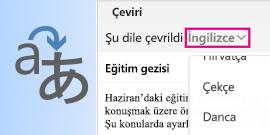 Mac için Outlook Çeviri