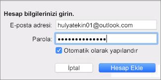 E-posta hesabı ekleme