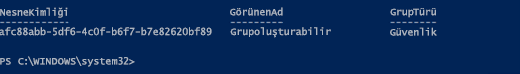 Azure AD PowerShell aracılığıyla grup bilgisi