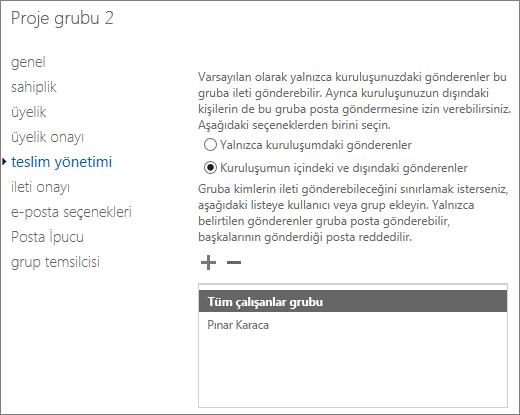 NDR 5.7.133'ü çözmeye yardımcı olmak için, izin verilen dış göndereni bir dağıtım grubuna ekleyin