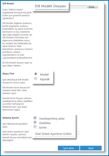 İBH Modeli görünümünün ekran görüntüsü.