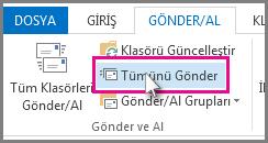 Outlook 2013'te Tümünü Gönder düğmesi
