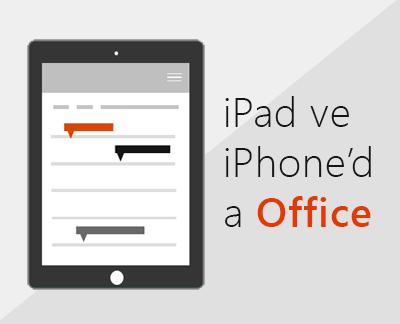 iOS'ta Office uygulamalarını ayarlamak için tıklayın