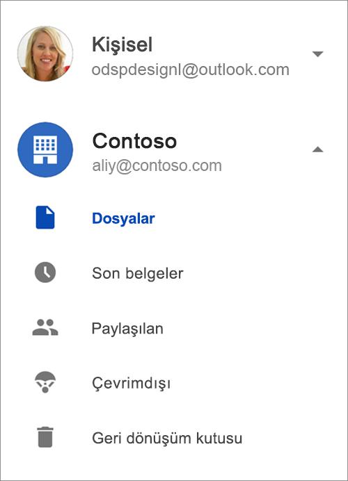 OneDrive iş.