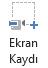 PowerPoint 2016'da Kayıt sekmesindeki Ekran Kaydı düğmesi
