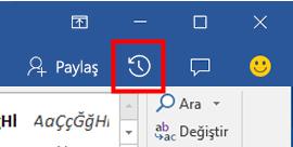 Office dosyalarının geçmiş sürümlerini görüntüleme