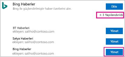 Bağlayıcı sayfasında düğmesinin yönetme